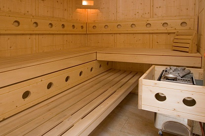Sauna in the main building