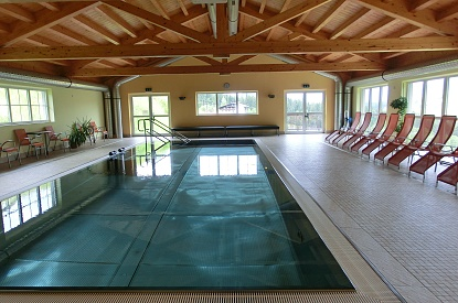 Indoor pool in the main building